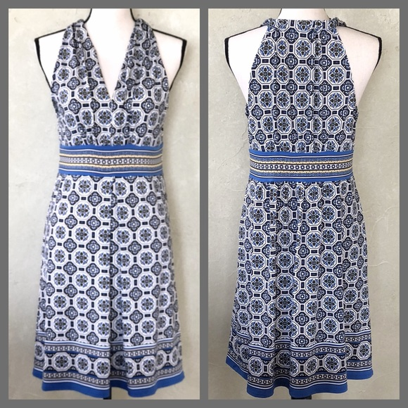 c7cc152e9c5f5 Max Studio Dresses | Nwt Blue Vneck Pleated Jersey Dress | Poshmark